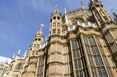 Westminster Abbey. The view of elaborate turrets and towers of Westminster Abbey in London, England Royalty Free Stock Image