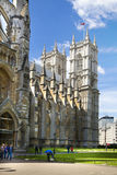 Westminster abbey, view form the park Stock Image