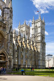 Westminster abbey, view form the park Royalty Free Stock Photos