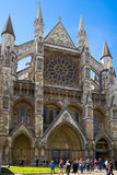 Westminster abbey, view form the park Royalty Free Stock Photo