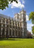 Westminster abbey, view form the park Stock Photos