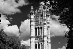 Westminster Abbey viewed from Victoria tower gardens, London, UK. Architecture ben britain british building capital city clock destination england english stock photo