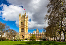 Westminster Abbey viewed from Victoria tower gardens, London, UK Stock Photography