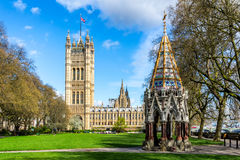 Westminster Abbey viewed from Victoria tower gardens, London, UK Royalty Free Stock Photo