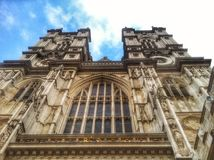 Westminster Abbey West Door Towers Stockbild