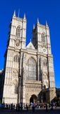 Westminster Abbey, Western facade,  London, UK Royalty Free Stock Image