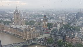 Westminster Abbey. From London Eye Stock Image