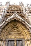 Westminster Abbey in Westminster, London, England, UK. Facade details royalty free stock photo