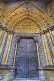Westminster Abbeytür Stockfotografie