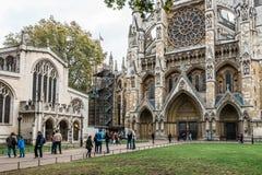 Westminster abbotskloster i London, England Arkivfoto