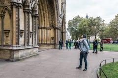Westminster abbotskloster i London, England Arkivbilder