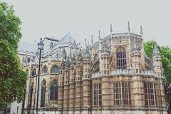 Westminster abbotskloster i London stadsmitt Arkivbilder