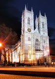 Westminster abbotskloster på natten, London Royaltyfri Fotografi