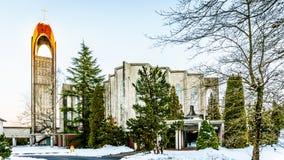Westminster Abby i beskickningen British Columbia Arkivfoton