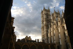 Westminster Abby. Old church just before dawn royalty free stock photography