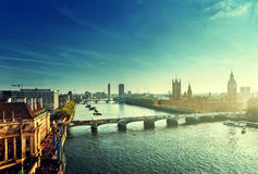 Westminster aerial view, London Royalty Free Stock Photography