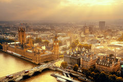 Westminster aerial Royalty Free Stock Photography
