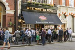 Westminster Arms Stock Image