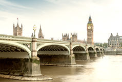 Westminster and Big Ben on a beautiful day, London - UK.  Royalty Free Stock Photography