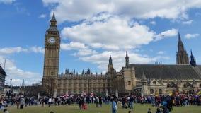 Westminster  . Big Ben houses of parliament. London. The house of parliament.  And big Ben london Royalty Free Stock Photos