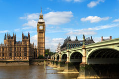 Westminster and Big Ben. Over river Thames Royalty Free Stock Photo