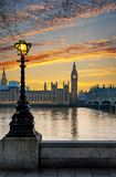 Westminster and Big Ben after sunset. London, United Kingdom Stock Photography