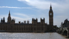 Westminster, Big Ben and Westminster bridge Royalty Free Stock Photos