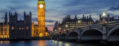 Westminster-Brücke bis zum Nacht, London, Großbritannien Stockfotografie