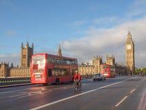 Westminster-Brücke London Lizenzfreie Stockfotografie
