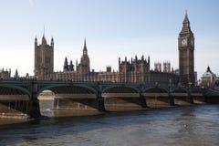 Westminster-Brücke und Big Ben lizenzfreies stockfoto