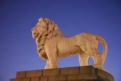 Westminster-Brücken-Löwe-Statue lizenzfreies stockfoto