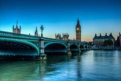 Westminster Bridge. HDR Shot of westminster Bridge Royalty Free Stock Images