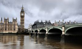 Westminster Bridge with Big Ben in London Stock Photography