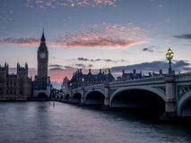 Westminster Bridge and Big Ben Royalty Free Stock Photography
