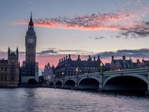 Westminster Bridge and Big Ben Royalty Free Stock Images