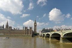 Westminster Bridge and Big Ben Stock Image