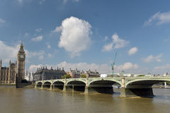 Westminster Bridge and Big Ben Stock Images