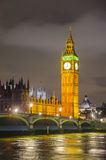 Westminster Bridge and Big Ben Tower in London Royalty Free Stock Photography