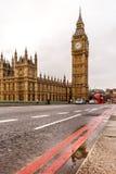 Westminster bridge and Big Ben in winter Stock Images