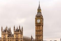 Westminster bridge and Big Ben in winter Stock Photo