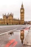 Westminster bridge and Big Ben in winter Stock Image