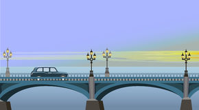 Westminster Bridge. Cab rides to the sights of London Stock Photo