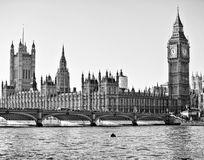 Westminster Bridge. By the Houses of Parliament Royalty Free Stock Photography