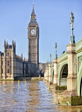 Westminster Bridge. By the Houses of Parliament Royalty Free Stock Photos