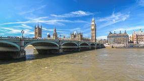Westminster Bridge Houses Parliament and Big ben. London. Westminster Bridge Houses Parliament and Big ben Stock Photo