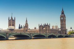 Westminster Bridge and Houses of Parliament, London.  Stock Photography