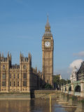 Westminster Bridge and Houses of Parliament in London Stock Images