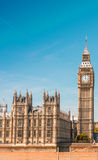 Westminster Bridge and Houses of Parliament on a sunny day - Lon. Don Royalty Free Stock Images