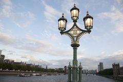 Westminster Bridge Lamppost; London royalty free stock photography