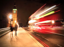 Westminster Bridge in London Royalty Free Stock Photo